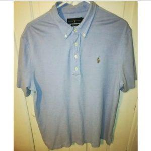 Ralph Lauren Short Sleeve 'Knit Oxford' Polo Shirt